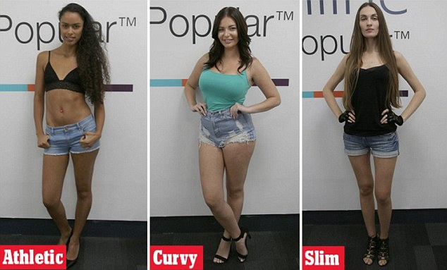 L-R: Sophia has an athletic figure, Stephanie has a curvy one and Inesa has a slim physique. So which one did the men like the most?