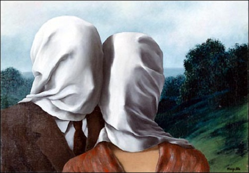 Les Amants (The lovers) 1928. oil on canvas Rene Magritte